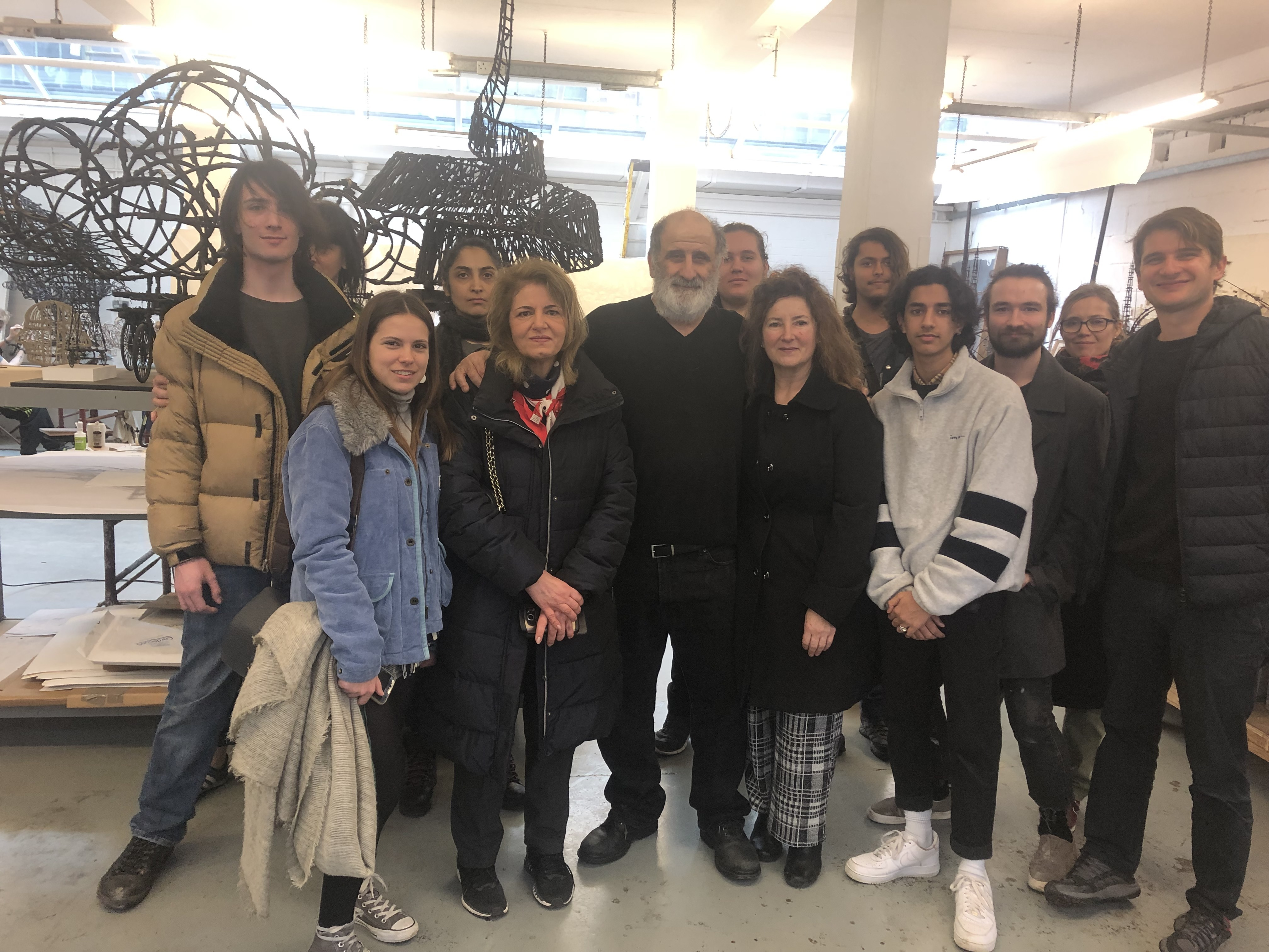 HSoA Foundation & Advanced Course students visit the studio of artist Gerry Judah