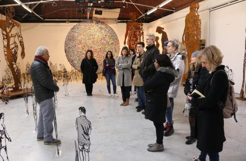 HSoA students visit the studios of Philip King PRA & Zadoc Ben David