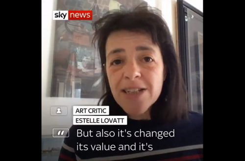 Estelle Lovatt talks Banksy shredded on Sky News and BBC