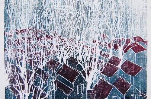 Gianinna Delpino trees have the power II woodcut print