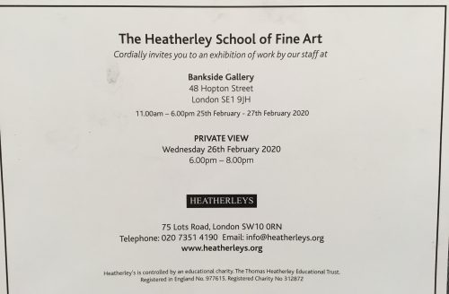The Heatherley School of Fine Art Staff Exhibition