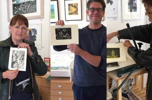 10 Minute Print Workshops with Theresa Pateman at Highgate Gallery this Sunday